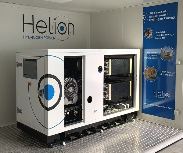 The acquisition will help support Alstom's innovation in hydrogen technology for the railway sector, in addition to the implementation of its Alstom in Motion strategic plan. Shown here is Helion's Hydrogen Power FC Rack. - Alstom