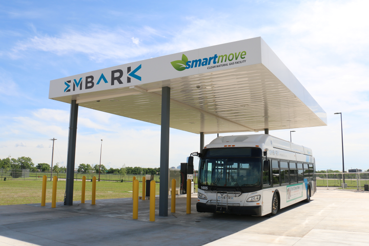 Currently, EMBARK's fleet includes two hybrid-electric buses, 21 CNG buses, three CNG paratransit vehicles, seven modern electric streetcars, and a bike-share fleet. - EMBARK