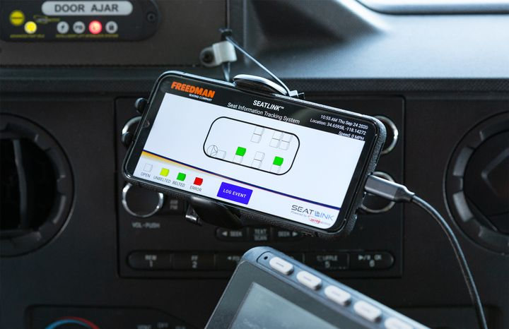 Installation is simple with plug and play connections. A downloadable app lets the user custom configure the seating layout on the head unit. - Freedman Seating