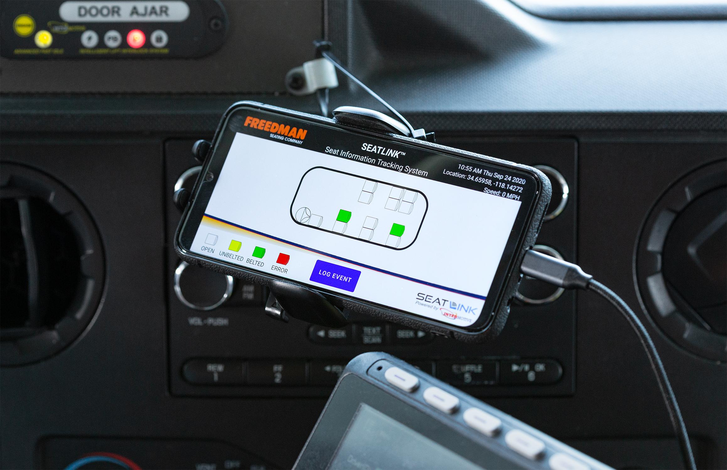 Freedman Seating, Intermotive Introduces SeatLink™ Seat Belt Warning System