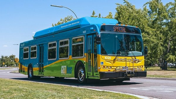 The newtransit center, which opened on April 10, is designed to improve pedestrian and bus movement andfacilitateeasier transfers between bus lines. - Golden Empire Transit