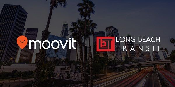 Using real-time arrival information and crowdsourced data, the Moovit app calculates the best routes for public and shared transit trips around the city. - Moovit/Long Beach Transit