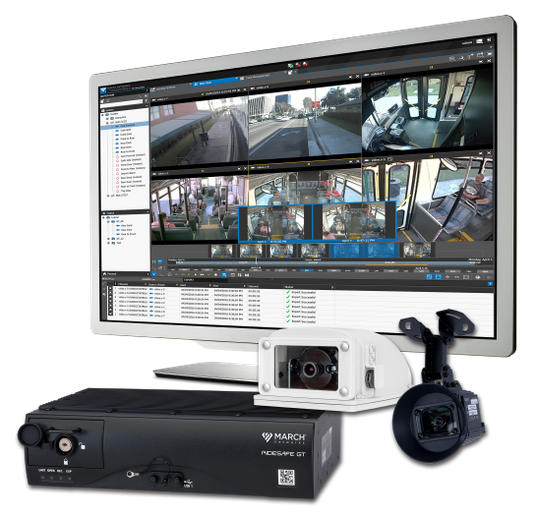 RideSafe enables transit operators to maintain the highest security for passengers and employees, respond quickly to emergency situations, and resolve liability claims faster with integrated surveillance video and vehicle metadata. - March Networks