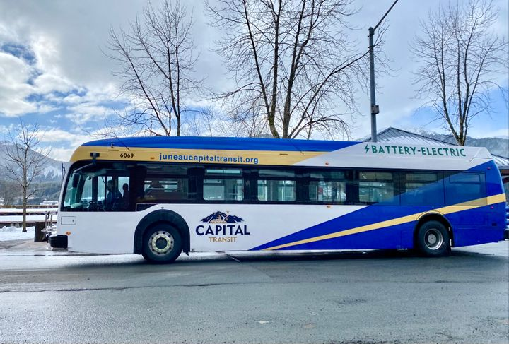 The new bus will be servicing the Mendenhall Express route, which travels via Glacier Highway between the Downtown Transit Center and the Mendenhall Mall. - Capital Transit