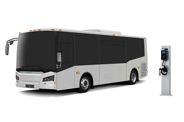 The contract gives the state's transit agencies the right to purchase from the company's bus portfolio, including the Vicinity Lightning EV (shown here). - Vicinity