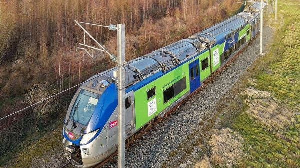 ThisRegio 2N regional train will be used over the next two years as a prototype that will be tested on the track between Aulnoye and Busigny. - Alstom