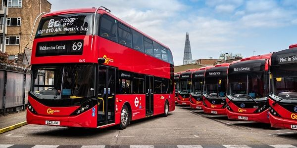 BYD and ADL delivered its 500th double-decker electric bus to Go-Ahead London. The bus is one of...