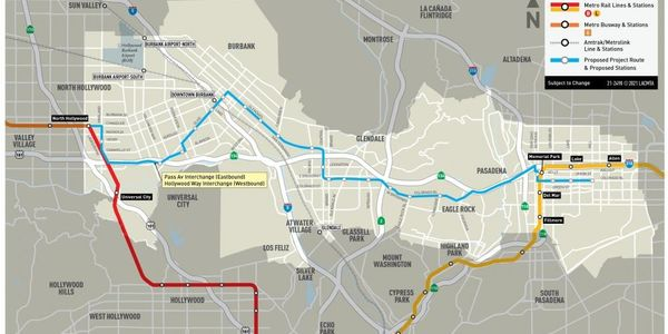 L.A. Metro Board Approves Proposed North Hollywood to Pasadena BRT Project
