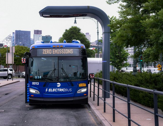The announcement comes as the MTA finalized a $39 million agreement with the New York Power Authority to install more than 50 overhead chargers to power new electric buses that will be coming next year to four MTA bus depots. - Marc A. Hermann