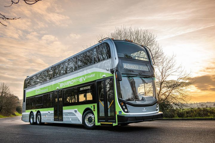 The Enviro500EV CHARGE includes all the usual benefits that come with Alexander Dennis's double-deck buses, including panoramic views and low-floor entry. - Photos courtesy ADL