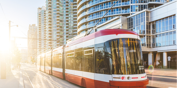 The Flexity LRVs for the TTC are five-module, unidirectional vehicles with all-wheel drive.