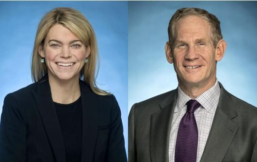 Sarah Feinberg (left) and John Lieber are expected to co-lead the agency. - MTA