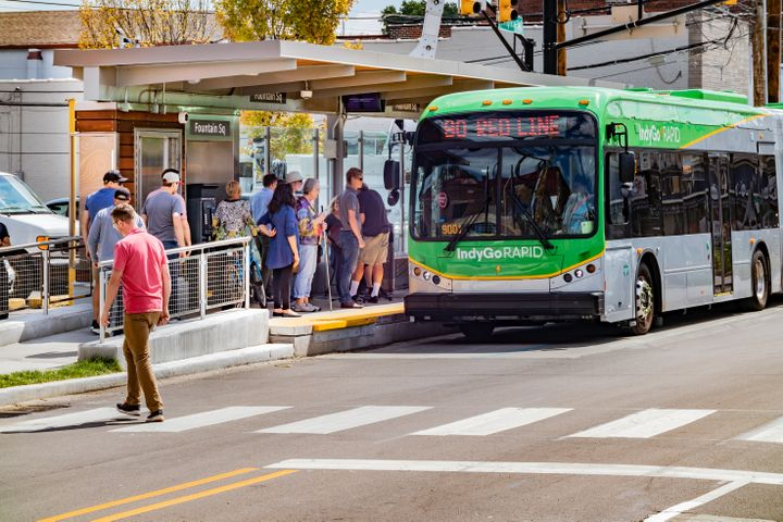 The 22 projects represent several modes of transport, including bus rapid transit, streetcar, and light rail in 13 states. - IndyGo