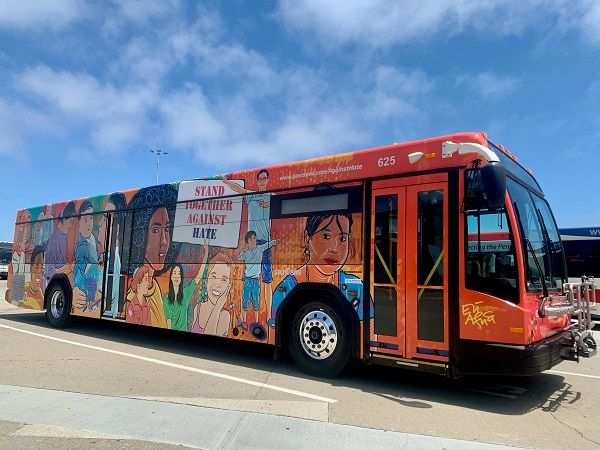 The decision to share this message through art follows the SamTrans Board of Directors decision last month to adopt a resolution in support of diversity, equity, inclusivity, and anti-racism. - SamTrans