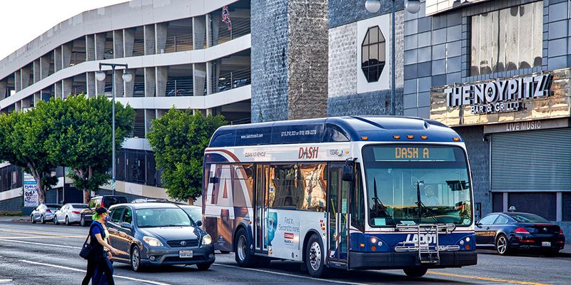 LADOT selected initial routes for the DASH pilot based upon ridership levels, route times, and...