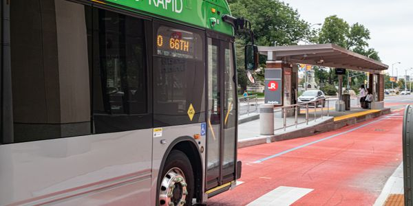The project includes 9.9 miles of new, exclusive bus lanes, 18 new stations and the purchase of...