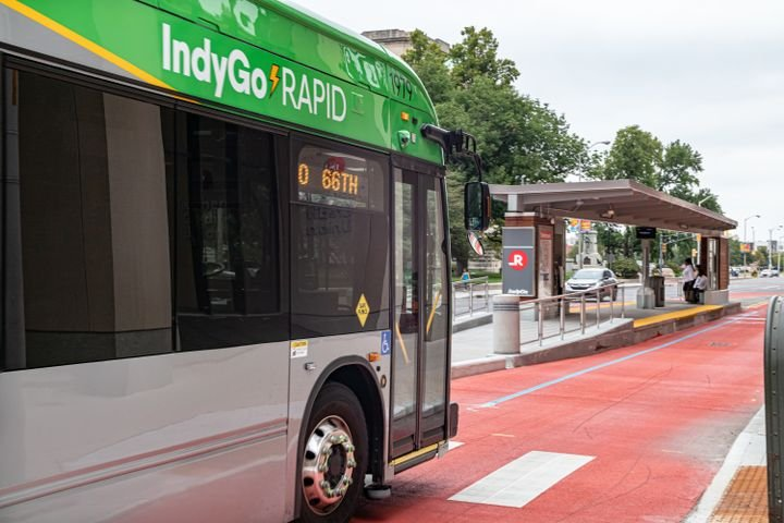 The project includes 9.9 miles of new, exclusive bus lanes, 18 new stations and the purchase of 15 60-foot electric buses and installation of transit signal priority at 30 signalized intersections along the route. - IndyGo