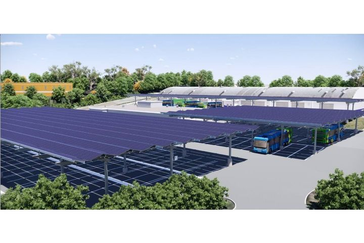 The Brookville Smart Energy Bus Depot supports the sustainability, electrification, and climate resilience goals of Montgomery County, Maryland. - Photo:AlphaStruxure