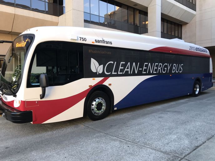 The SamTrans Board has committed the agency to fully convert the fleet to zero emissions by 2038, two years ahead of the California Air Resources Board deadline for all bus agencies in the state. - Samtrans