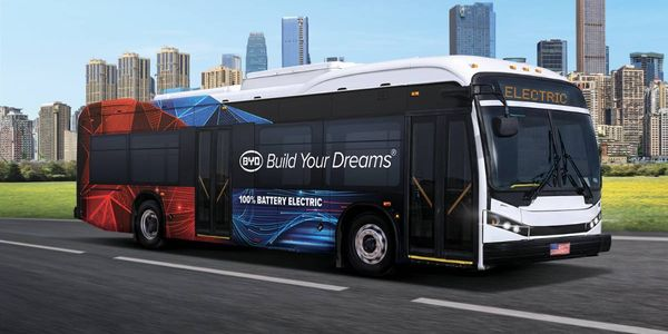BYD's K8M battery electric bus comes equipped with up to 435kWh LFP battery and can be fully...