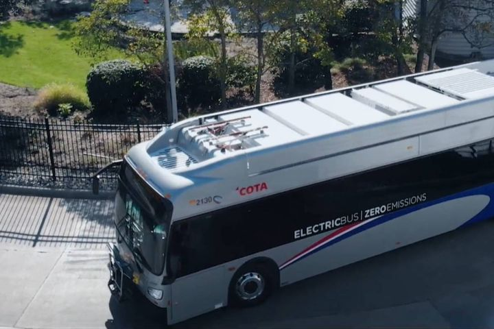 COTA said it expects the two new electric transit vehicles to begin service on Oct. 11. - Photo: COTA