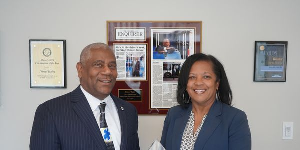 Cincinnati Metro CEO and General Manager Darryl Haley, pictured here with the Conference of...