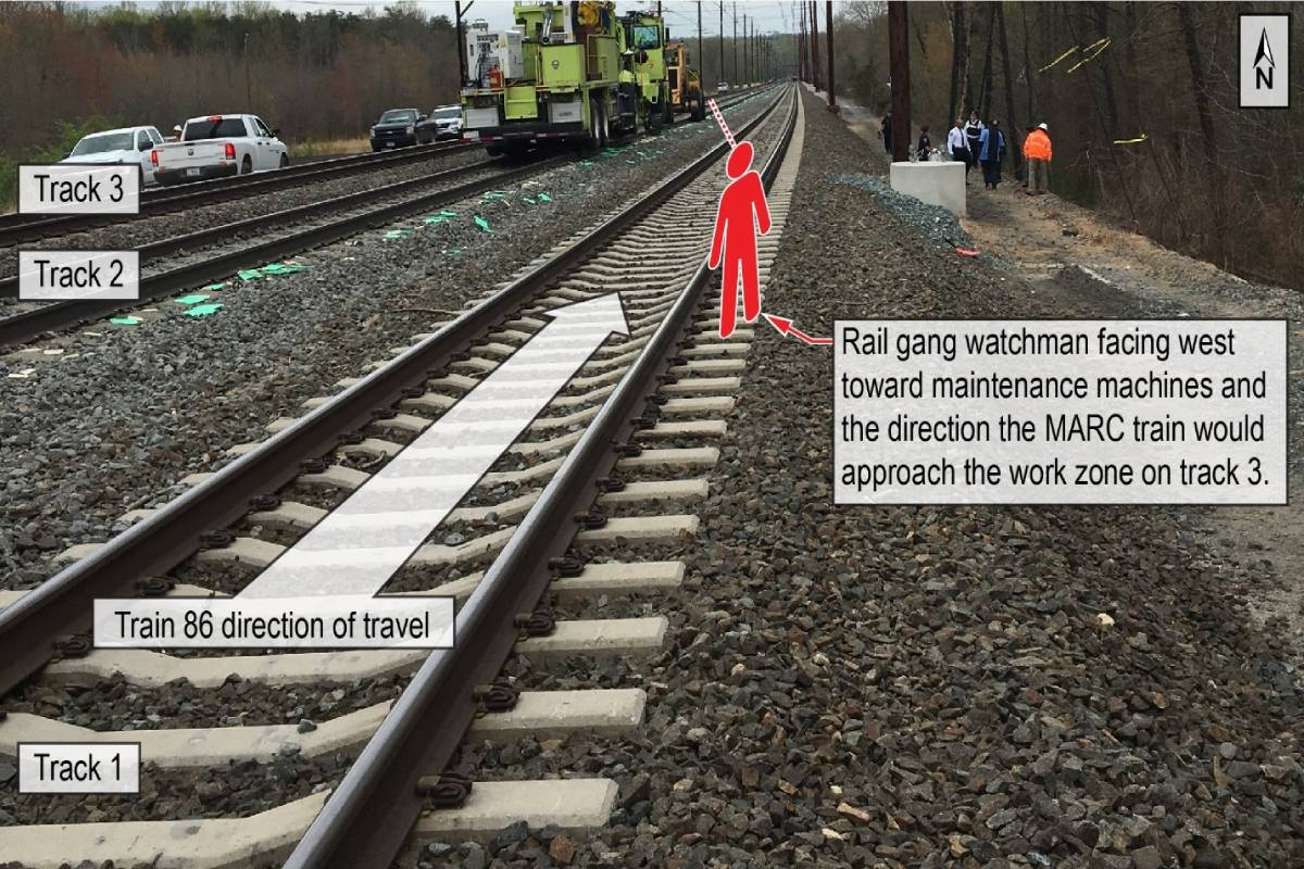 NTSB Calls for Railroads to Better Protect Rail Roadway Workers