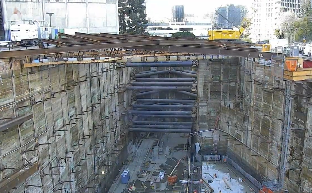 Time Lapse of LA Metro's Gold Line Regional Connector Project