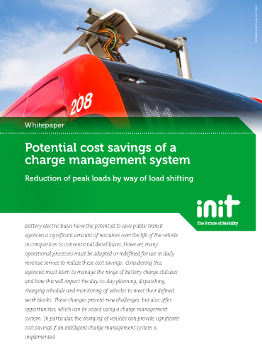 Potential Cost Savings of a Charge Management System: Reduction of Peak Loads by Way of Load Shifting