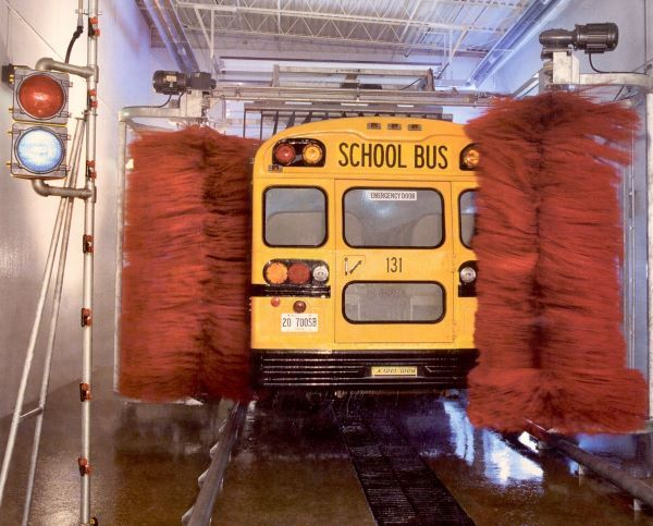Ross and White's bus products include touchless wash, undercarriage wash, water recycling systems, and bus interior cyclone cleaning systems. - Photo courtesy Ross and White