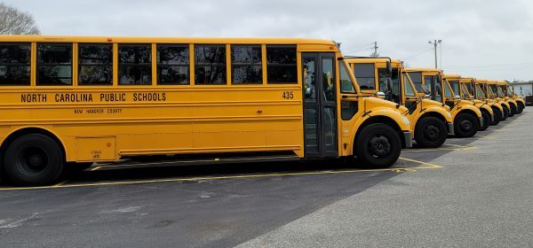 New Hanover (N.C.) County Schools looked to data to inform its redistribution of stops and increased walking distance so fewer drivers would be needed. - Photo courtesy New Hanover County Schools