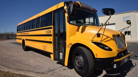Minnesota-based Schmitty and Sons has operated one LionC electric school bus (shown here) in its...