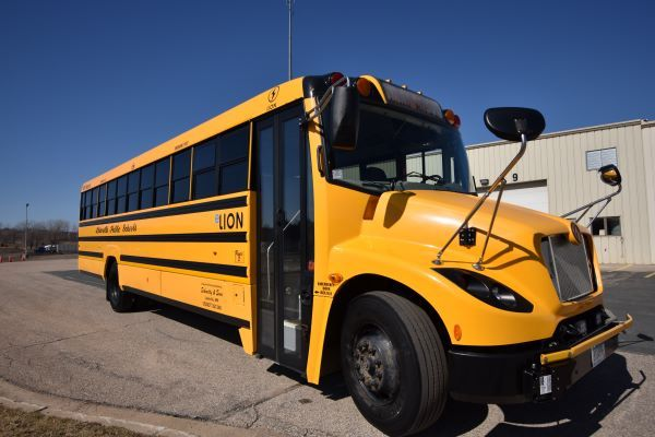 Minnesota-based Schmitty and Sons has operated one LionC electric school bus (shown here) in its fleet of 215 school buses since September 2017. - Photo courtesy Schmitty and Sons