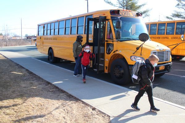Bethlehem Central School District in Delmar, New York, may soon begin transitioning its bus fleet from diesel and gasoline to electric if voters approve a bus purchase proposition. - Photo courtesy Bethlehem Central School District