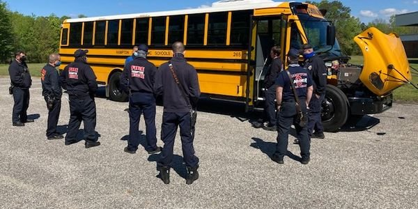 Hampton City (Va.) Schools recently conducted electric bus safety training with about 70...