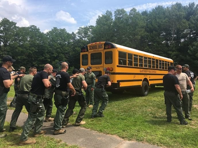 New Britain, Connecticut-based bus dealership and transportation company DATTCO Inc. has worked with a local SWAT team to conduct training that covered active shooter response techniques. - Photo courtesy DATTCO Inc.