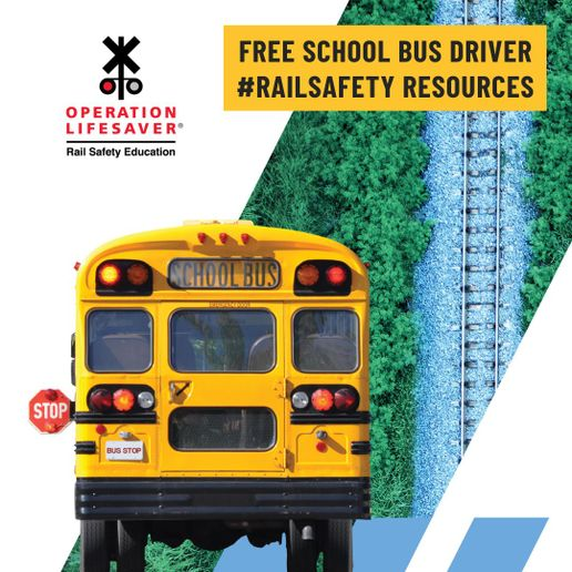 Operation Lifesaver has many materials and trainings available to help school bus transportation directors and bus drivers know proper procedures to keep passengers safe at all railroad crossings. - Graphic courtesy Operation Lifesaver Inc.