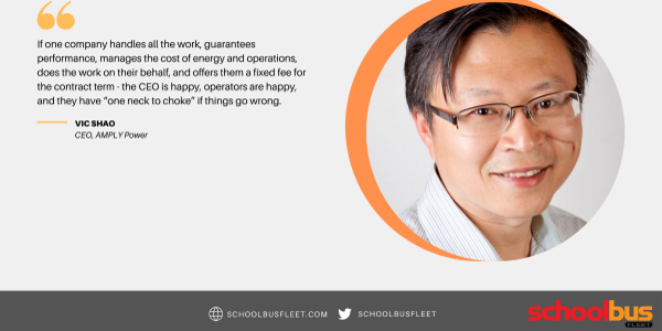 Vic Shao of AMPLY Power hopes to make fleet electrification easier for school districts...