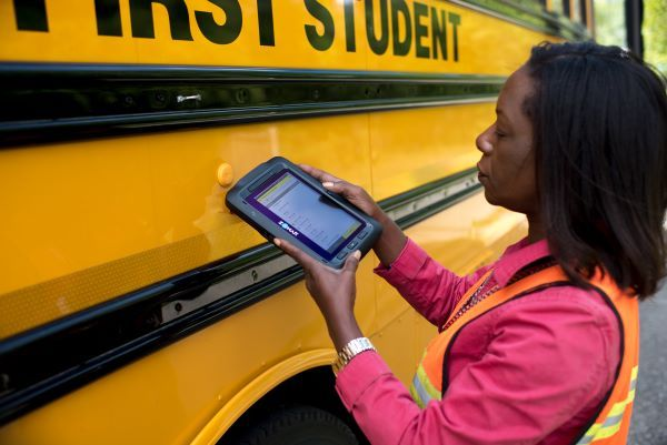 Safety technology tools can help with school schedules that are staggered due to COVID. Those include ridership tracking and inspection apps, as well as tablets. Shown here is Zonar's electronic verified inspection reporting (EVIR) solution. - Photo courtesy Zonar Systems