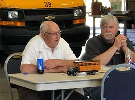 Marty Maier, the head mechanic at Hilton (N.Y.) Central School District (shown right), has retired after 26 years. He came aboard after his father, Charlie Maier (left), retired.