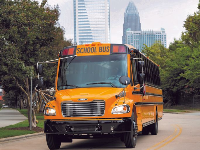 Thomas Built Buses is offering a delay to the warranty start of new buses until schools reopen and pupil transportation resumes. - Photo courtesy Thomas Built Buses
