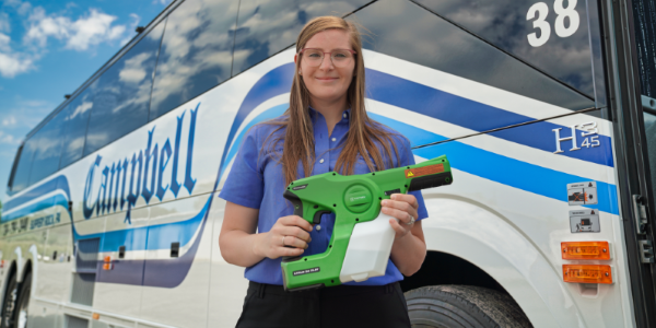 EZ DISSAN will now use Victory Innovations's cordless electrostatic handheld sprayers along with...
