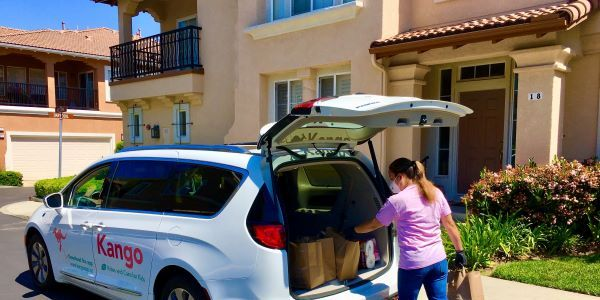 Kango expanded services to have drivers deliver meals and supplies for schools and offer online...