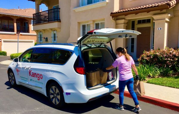 Kango expanded services to have drivers deliver meals and supplies for schools and offer online tutoring during the pandemic. - Photo courtesy Kango