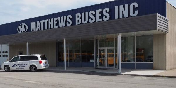 The new Matthews Buses service, parts, and training facility in western New York can accommodate...