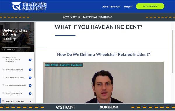 Q'Straint's National Wheelchair Securement Training Seminar Goes Virtual