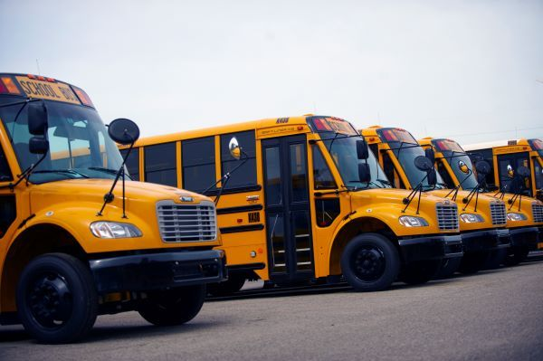 Dean Transportation is augmenting its regular disinfectant use by treating its fleet of over 1,600 school buses with an antimicrobial in response to COVID-19. - Photo courtesy Dean Transportation