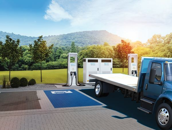 Navistar's NEXT eMobility Solutions will work with In-Charge Energy to provide charging infrastructure and consulting services to the vehicle manufacturer's EV customers. - Photo courtesy Navistar