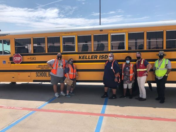 Texas Central School Bus employees began transporting students to school last week. - Photo courtesy North America Central School Bus dba Texas Central School Bus