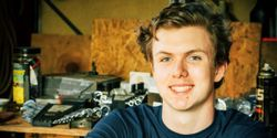 """The TechForce Foundation launched """"Because I'm a Tech,"""" a promotional campaign. Shown here is Robert Schonberner, a recipient of a TechForce scholarship that he is using to study automotive tech and restoration this fall."""